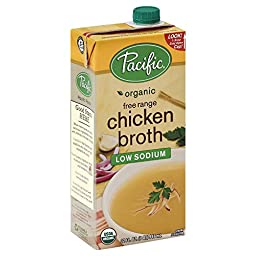 Pacific Broth, Chicken, Organic, Free Range, Low Sodium, 32 Oz. (Pack of 2)