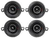 (4) Kicker 44KSC3504 KSC3504 3.5'' 200 Watt 2-way Car Stereo Speakers KSC350