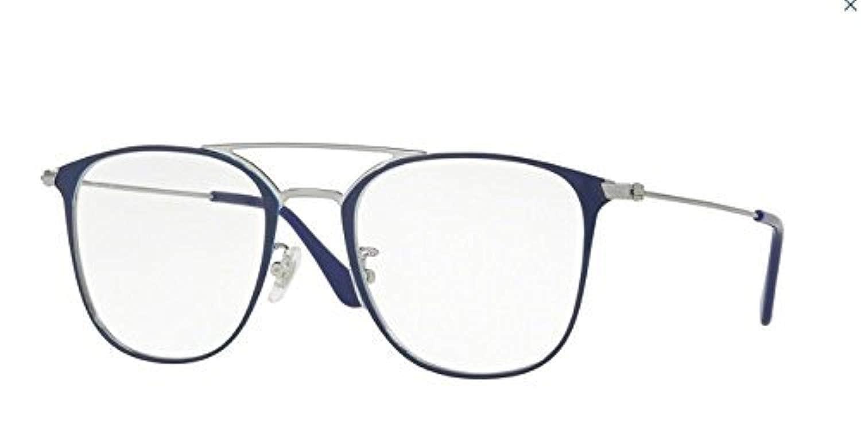 52fa3eba99 Amazon.com  Ray-Ban RX6377F Eyeglasses Gunmetal Shiny Blue 52mm  Clothing