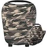 Camouflage Baby Car Seat Cover, Multi-Use Nursing Breastfeeding Scarf, High Chair Stroller Head Cover