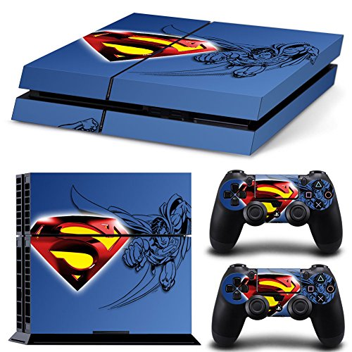 MightyStickers® PS4 Designer Skin Game Console System 2 Controller Decal Vinyl Protective Covers Stickers Sony PlayStation 4 DC Comics Total Super Flying Heroes Movies Superman Steel Friends S Logo (Steel Reign compare prices)