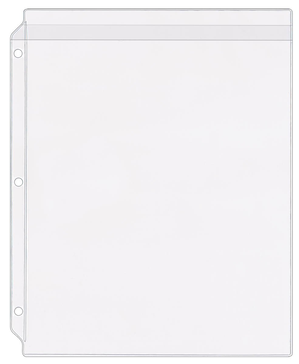 StoreSMART® - Plastic Sheet Protector with Flap - 50-Pack - 8 1/2 x 11 - SPT600-F-50