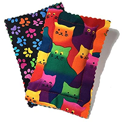 Cat toys with catnip Catnip Pillows Two Pack Crazy Cat [tag]