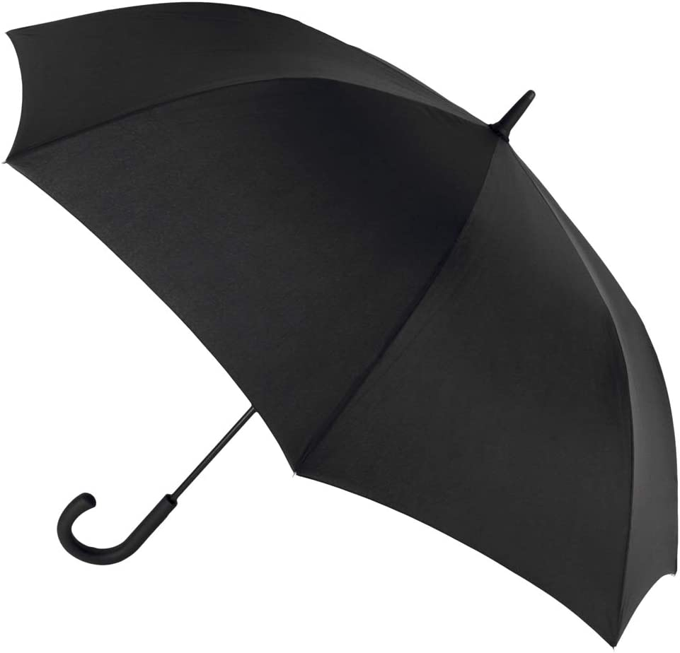 Paraguas Hombre automático. Paraguas Vogue Negro. Antiviento y con Acabado Teflón. Gran funcionalidad y Resistencia