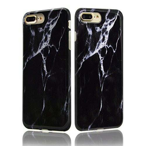 TPU Mármol Funda para iPhone 7 Plus 5.5 Sunroyal® [Anti-arañazos] [Anti-huella] Ultra Delgado Flexible Case Cover Suave Carcasa Bumper Parachoques Cubierta Caja del Teléfono para iPhone 7 Plus(5.5 Pu A-21