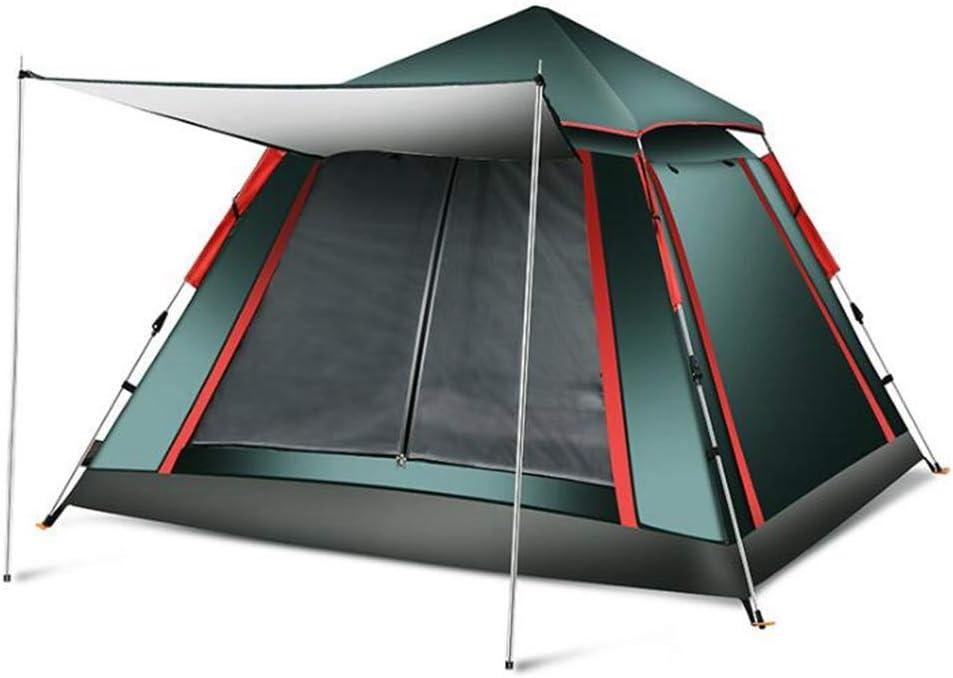BBX Automático Pop-up Grupo Camping Tienda al Aire Libre con Parasol 3-4 Personas a Prueba de Viento Refugio de Nieve 5000 mm Columna de Agua Impermeable Senderismo Excursionismo Excursionismo: Amazon.es: Deportes y