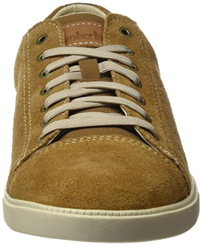 Timberland Fulk Cap Toe Ox, Zapatos de Cordones Oxford para Hombre Marrón (Rubber Hammer Ii Suede)