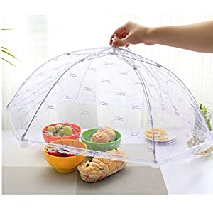 AMAZZANG -Kitchen Food Umbrella Cover Picnic Barbecue BBQ Party Fly Mosquito Mesh Net