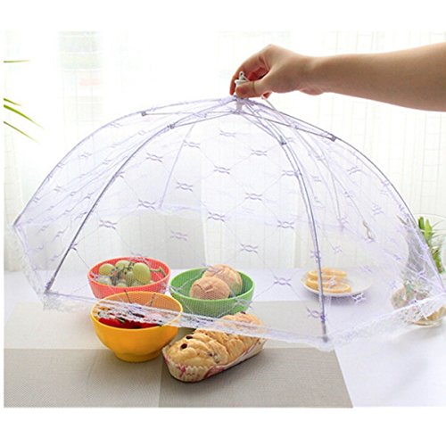 AMAZZANG -Kitchen Food Umbrella Cover Picnic Barbecue BBQ Party Fly Mosquito Mesh - Singapore Ans Bag
