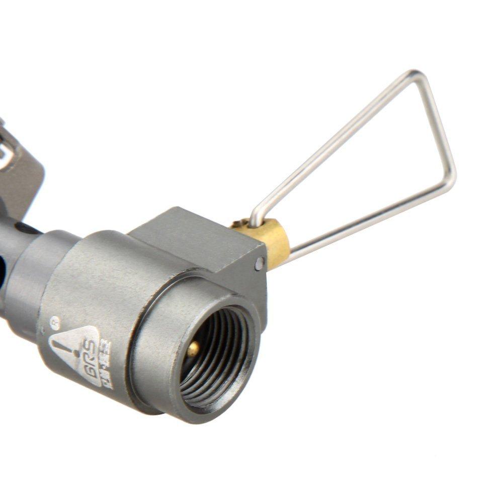 Estufa de gas de camping - BRS 25g Mini bolsillo Quemador de coccion de aleacion de titanio de una pieza Estufa de gas plegable BRS3000 t 2700W: Amazon.es: ...
