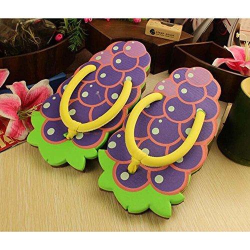 Lsv-8 pour femme et fille dété extérieur/intérieur Creative Fruits Forme Chaussons Tongs, lanières, taille unique: 34-38 (style aléatoire)