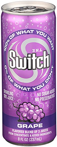 The Switch Sparkling Juice, Grape, 8-Ounce Cans (Pack of 24) (The Switch Grape compare prices)