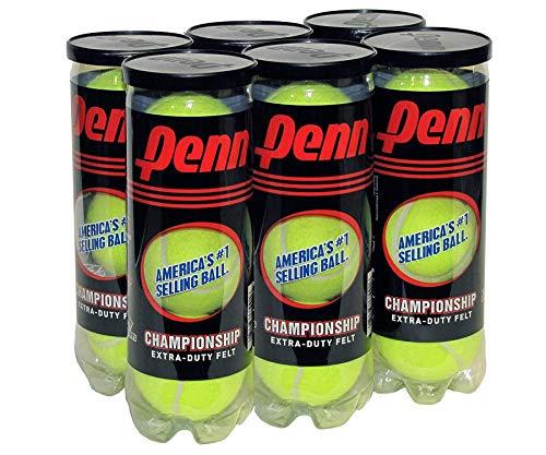 Penn Championship Extra Duty Tennis Balls, 6 Can Pack, 18 Balls