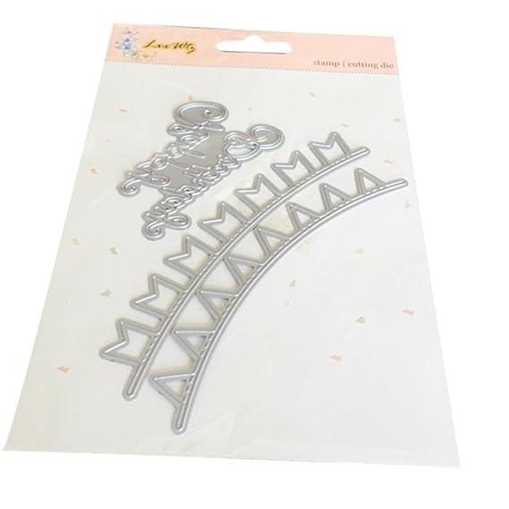 Troqueles para álbumes de Recortes,❤️JiaMeng Plantillas de Corte para el Regalo de la Tarjeta de Papel del álbum de Foto de DIY Scrapbooking (A): ...