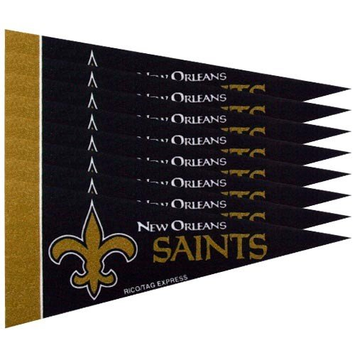 Rico Industries NFL New Orleans Saints Pennant Mini (8 Piece), One Size, Team Color