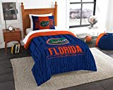 """Florida Gators - 2 Piece Twin Size Printed Comforter Set - Entire Set Includes: 1 Twin Comforter (64""""x86"""") & 1 Pillow Sham - NCAA College Bedding Bedroom Accessories"""