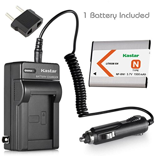 Kastar Battery and Charger for Sony NP-BN1 BC-CSN Cyber-shot DSC-TX5 DSC-TX7 DSC-TX9 DSC-W310 DSC-W320 DSC-W330 DSC-W350 DSC-W360 DSC-W380 DSC-W390 DSC-W510 DSC-W530 DSC-W560 DSC-W570 DSC-WX5 DSC-WX9