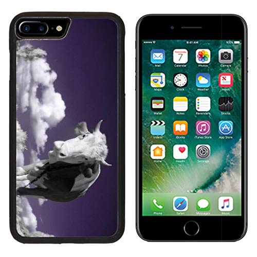 MSD Apple iPhone 8 Plus Case Aluminum Backplate Bumper Snap Case Image ID: 4751899 A Cow is in The Field is in an Infra red Color Shoot Special photocam ()