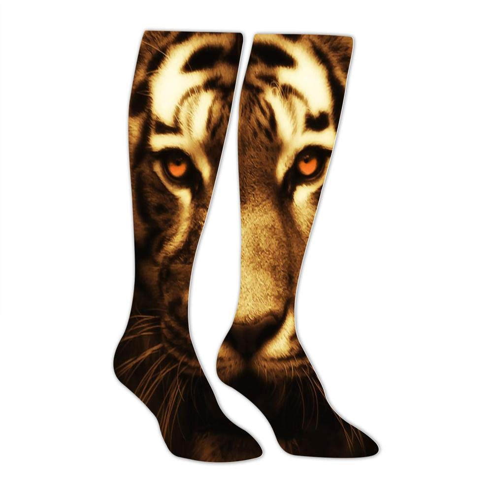 Mens Tigers Head and Tiger Face Socks Sports Leisure Fashion and Interesting Socks