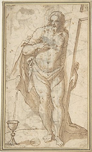 Figure of Christ Poster Print by Anonymous Italian Bolognese (18 x 24)