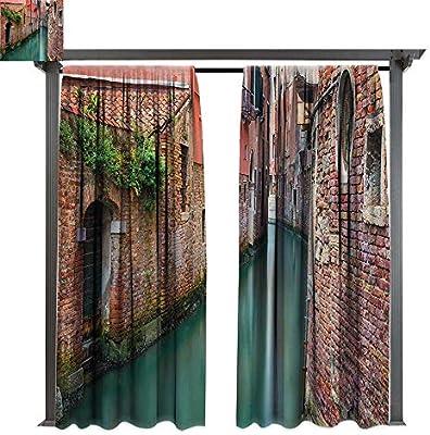 bybyhome - Cortina para pérgola con diseño de Gran Canal y la basílica salubre en el día Soleado, Ideal para Porche Frontal, pérgola, Cabana, Patio Cubierto: Amazon.es: Jardín