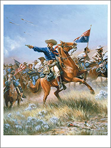 Mark Churms Fine Art Prints: CUSTER'S Last Ride - George Armstrong Custer (Little Bighorn Battle 1876) Signed Limited Edition Paper Print