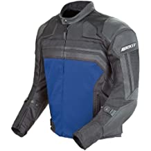 Joe Rocket Reactor 3 Men's Mesh and Leather Motorcycle Jacket (Black/Blue, X-Large)
