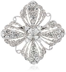 Nina 'Juna' Square Crystal Cluster Brooch