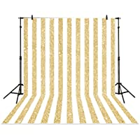 Allenjoy 6x8ft photography backdrops party Gold and white Stripes Golden Glitter glamour Sparkle Birthday wedding Adults Party banner photo studio booth background photocall