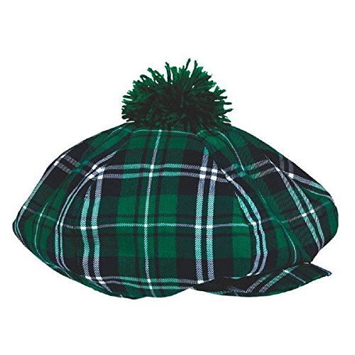 [St. Patrick's Day Plaid Gatsby Hat Costume Party Head Wear Accessory (1 Piece), Green, 12