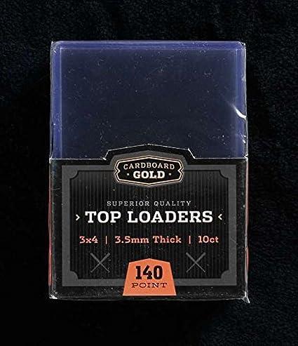 50 Ultra Pro 3x4 Thick Toploader 55 pt Size Trading Card Holder Case
