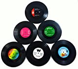 Vinyl Record Disc Coasters | Set of 6 with