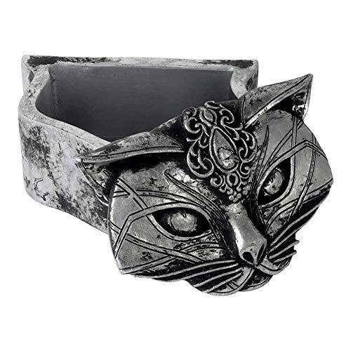 Alchemy of England Sacred Cat Trinket Box Silver