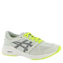 Asics Womens Roadhawk Ff Sneaker, Glacier Greyblacksafety Yellow, Size 9