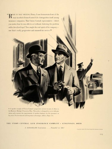1941 Ad Union Central Life Insurance Company Cincinnati   Original Print Ad