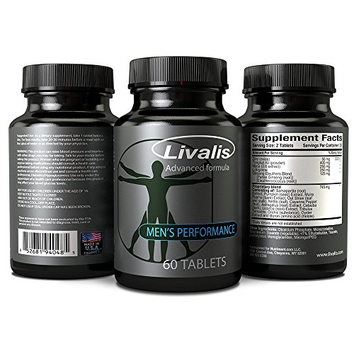 Livalis Male Enhancement Pills Get Bigger, Longer and Harder Helps Increase Blood Flow, Erection Quality and Sexual Performance Made in the USA Guaranteed Results by (Enlargement 60 Pills)