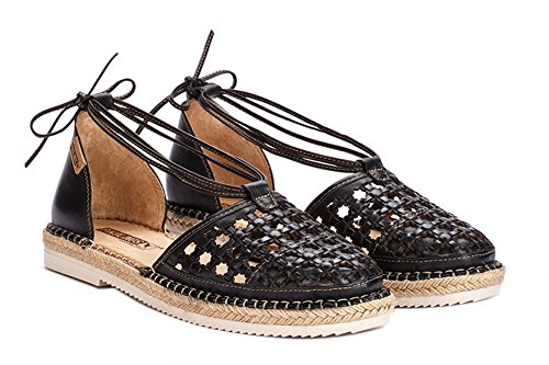 Pikolinos Womens Cadamunt Espadrille Black Size 37 (Footwear Leather Woven)