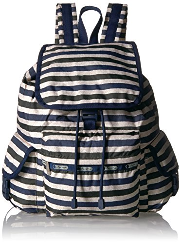 - LeSportsac Women's Classic Voyager Backpack, Cotton Stripe