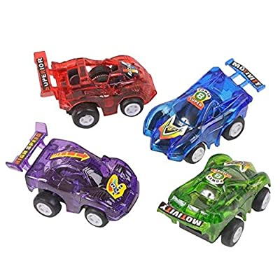 Rhode Island Novelty 2.5 Inch Pull Back Racer Cars 24 Cars per Order: Toys & Games
