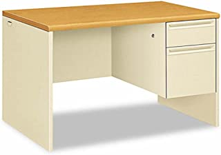 product image for HON 38251CL 38000 Series Right Pedestal Desk, 48w x 30d x 29-1/2h, Harvest/Putty