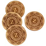 Coasters, 26 letters To Choose From, Round Coaster