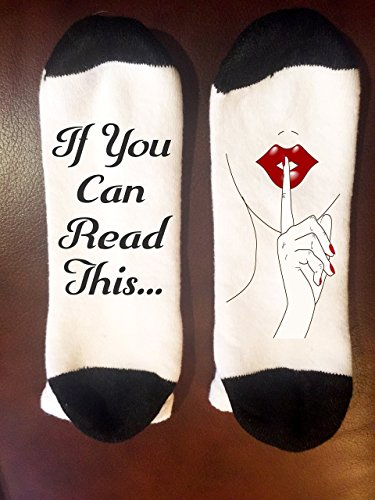 If you can read this Shhh socks | Be Quiet Socks | If you can read this socks | funny christmas gift | Stocking Stuffer | Writing on Socks