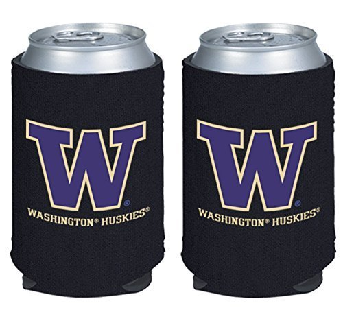 Washington Huskies Tailgate Cooler (NCAA College 2014 Team Logo Color Can Kaddy Holder Cooler 2-Pack (Washington Huskies))