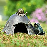 SPI Home 33654 Toad House with Snail Sculpture