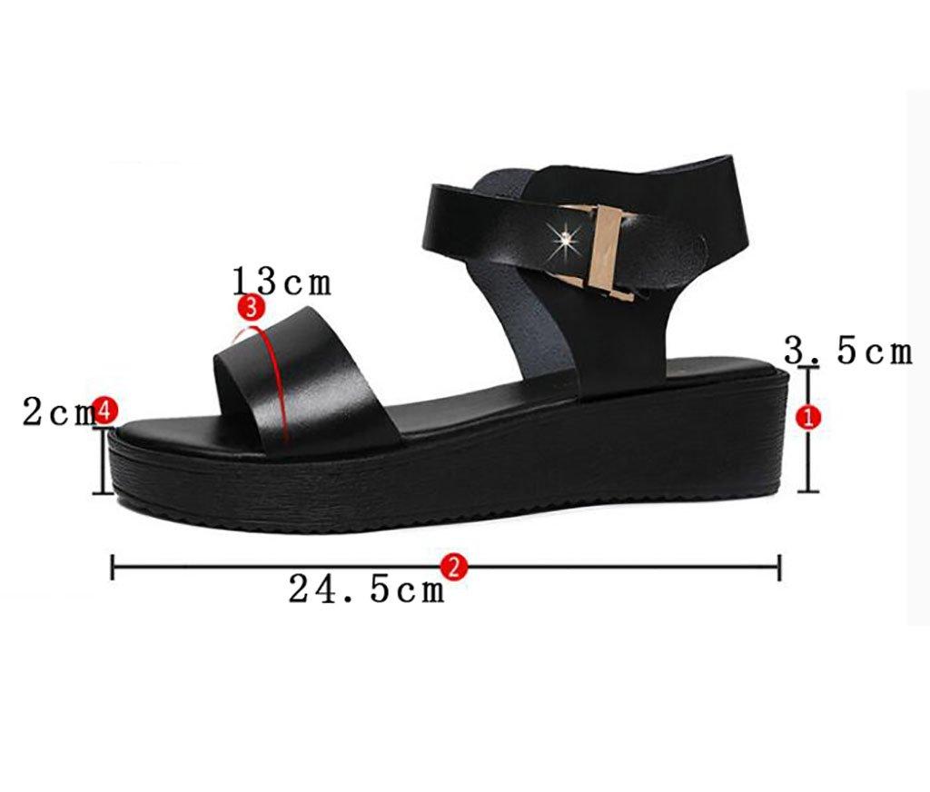 Römische Sandalen flache weibliche flache Sandalen Sandalen des Sommers einfache koreanische wilde starke Schuhe Flache Sandalen,Mode Sandalen (Farbe : B, größe : 36) B 225b47