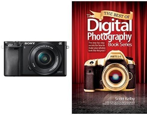 Sony A6000 con objetivo 16-50mm y libro de fotografía digital ...