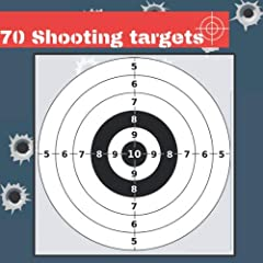 70 Shooting Targets silhouette black and grey       Perfect for Rifles / Firearms / BB / AirSoft / Pistols / Archery & Pellet Guns                       Specifications:                       cutting sheet with scissors            ...