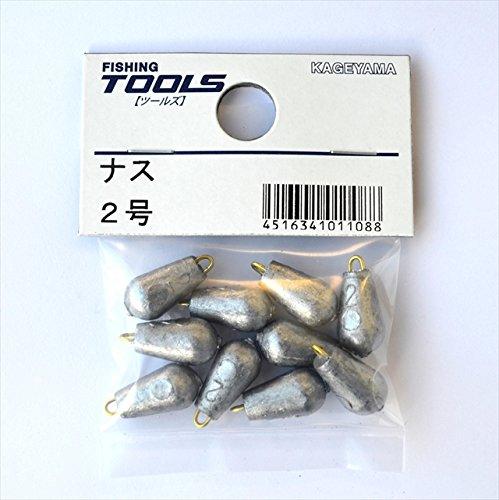 景山産業 ナス型オモリ パック 2号の商品画像