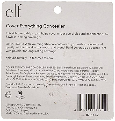 41H55WJfxGL e.l.f. Cover Everything Concealer, Corrective Yellow, 0.14 Ounce