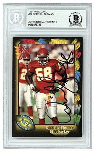 Kansas City Chiefs Wild Card - Derrick Thomas Autographed Signed 1991